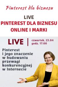 Live: Pinterest dla biznesu online i marki